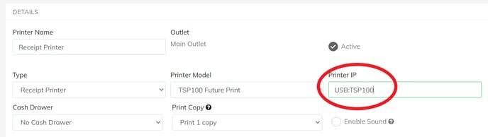 USB printer IP